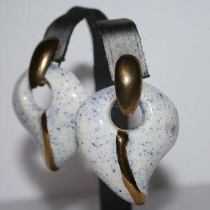 Vintage gold unique earrings
